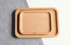 Coated Beech Wood tray plate Wooden platter solid by CCHousewares