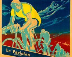 Retro styled stencil cycling Tour de France by ArtBySassanFilsoof
