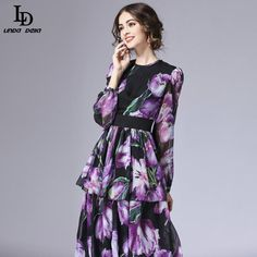 Flare Sleeve Holiday Beach Bohemian Plantain leaves Print Casual Loose Long Dress Tag a friend who would love this! www.sukclothes.co... #shop #beauty #Woman's fashion #Products