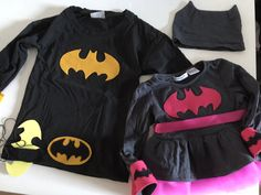 DYI Costume for siblings Batman and Batwoman