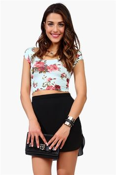 Tres Bien Crop Top - Mint