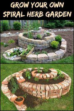 stenlagd rabatt Maximize your garden space by growing a spiral herb garden.
