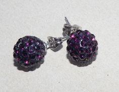 Aros bola de fuego violeta