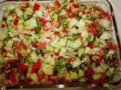 Cucumber Salsa Recipe - Food.com | This is fresh and crunchy. Almost all the ingredients come straight from the garden. A great use for those surplus cucumbers and tomatoes-you can only make so many pickles, right?! Cook time is chill time.
