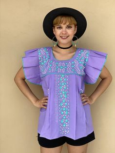 Floral embroidery mexico blouse women, teal embroidered flowers, resort wear clothing, cinco de mayo outfit, rodeo fashion, southwestern Mexican Top, Mexican Blouse, Mexican Outfit, Embroidered Flowers, Floral Embroidery, Resort Wear, Looking Gorgeous, Ruffle Sleeve, Festival Fashion