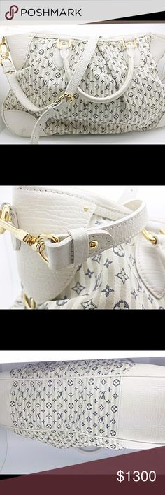 LIMITED EDITION Louis Vuitton ( Authentic ) LIMITED EDITION Louis Vuitton with blue logo and gold hardwear. Very hard to find this and very limit signs of wear. Adjustable crossbody. Louis Vuitton Bags Crossbody Bags