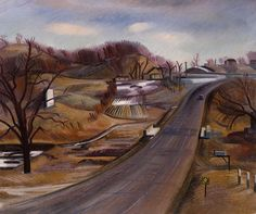 "Minnesota Highway"" Author: Erle Loran (American, 1905-1999) Date: 1933-34 Location: Smithsonian American Art Museum"