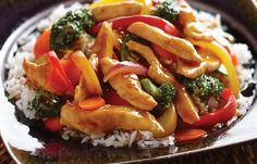 Teriyaki Chicken Stir Fry / I used fresh veggies . This was on the menu tonight . Simple , fast and yummy.