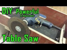 How To Make Drill Powered Table Saw | Adjustable & Portable | Drill Machine Powerful Saw - YouTube