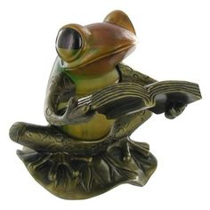 Frog Reading Lamp--this lovely reading lamp looks like a library necessity to me.