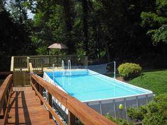 Intex Above Ground Pool Decks decks for above ground intex ultra frame rectangular pools