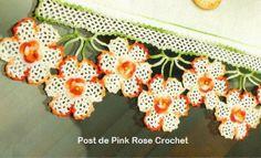 Barradinho de flores - Crochê Tapetes
