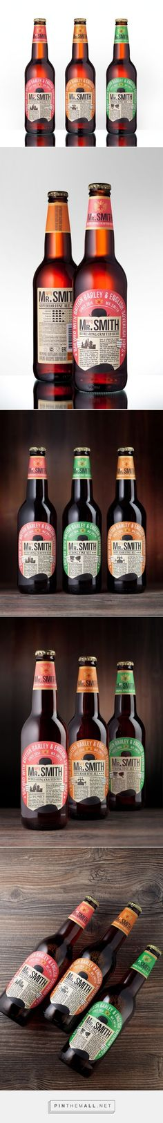 Mr. Smith #beer #packaging designed by Viewpoint - http://www.packagingoftheworld.com/2015/07/mr-smith.html - created via http://pinthemall.net