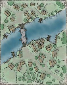 Matt Jackson is creating Old School Maps Fantasy City Map, Fantasy Village, Fantasy World Map, Environment Map, Village Map, Rpg Map, Adventure Map, Dungeon Maps, Location Map