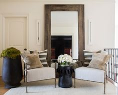 These chairs and combo could work in entrance way  © Julie Wage Ross for Sean Anderson Design