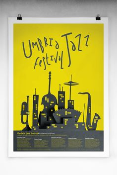 The Umbria Jazz Festival is one of the most important of its kind in the world. The festival has been held annually since the first concert was staged in Jazz Festival, Festival Posters, Festival Logo, Festival Guide, Jazz Poster, Blue Poster, Gig Poster, Jazz Art, Jazz Music