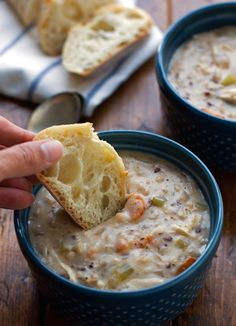 Chicken Wild Rice Soup (crock pot) - use milk instead. Half and half too thick