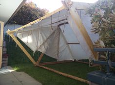 Viking tent with canopy