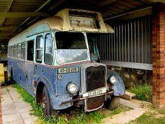 Bristol L type single deck bus circa 1939 Train Truck, Tow Truck, Abandoned Cars, Abandoned Vehicles, Richard Branson, Classic Trucks, Classic Cars, Routemaster, Car Trailer
