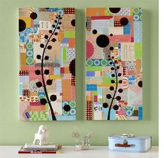 Colorful art ideas....scrap paper or fabric?
