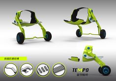 Tampo Design sketch v1 Animals wheelchair Designed by 435CREATIVE