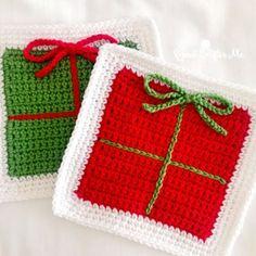 Crochet Gift Box Granny Square