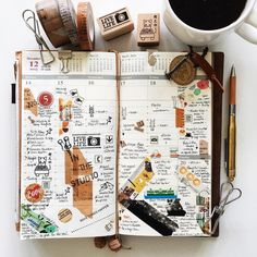 | a look back • week 51 | #liveauthentic #livefolk #nothingisordinary #coffeetime #coffee #onthetable #midoritravelersnotebook #midori #travelersnotebook #travelersnote #journal #planner #plannerlove #plannernerd #stationery #stationerylove #washitape #stickers #zakka #travelersfactory #papercraft #scrapbooking #stamps #typography #handwriting #vsco #vscocam