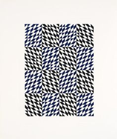 Second Movement III, 1978, by Anni Albers | Printmaker and textile artist Anni Albers is widely recognized both for her geometric patterned compositions and deep involvement with the Bauhaus and Black Mountain College, teaching at the latter between 1933 and 1949. #Albers