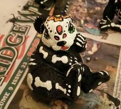 Sugar Skull Day of The Dead Rabbit hand painted figurine art