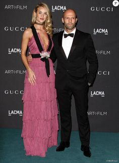 "Jason Statham et sa compagne Rosie Huntington-Whiteley - Gala ""The LACMA 2015 Art+Film"" en l'honneur de James Turrell et Alejandro Inarritu à Los Angeles, le 7 novembre 2015."