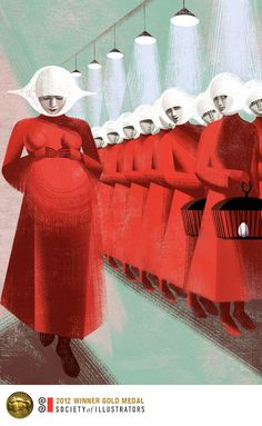 """Pregnant"" illustrations of The Handmaid's Tale by Anna and Elena Balbusso,Milan, Italy."