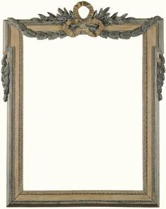 A CREAM WHITE AND GREEN PAINTED FRAME, LOUIS XVI