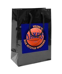 $50 for 20 Custom Basketball Bar Mitzvah Goody or Welcome Bags  #mitzvahgoodybag #mitzvahwelcomebag #mitzvahfavorbag