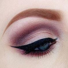 Soft, smokey eye makeup