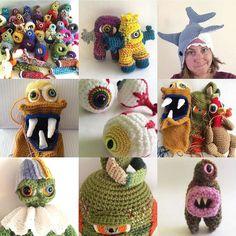 This sums up #KnotByGranma pretty well for 2015. #2015bestnine #amigurumi #crochet #monster #artdoll #crochetdoll #monstercrochet #dollmaking #sharkhat #eyeball