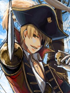 Here he is, once again. My smexy pirate. Pirate!England, ftw.