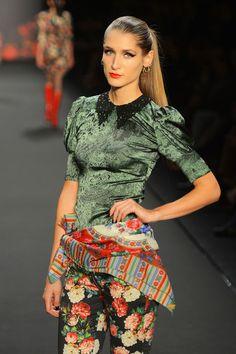 GNTM-Model: Leyla Mert Leyla Mert bei Lena Hoschek, Fashion Week Berlin H/W 2013/14