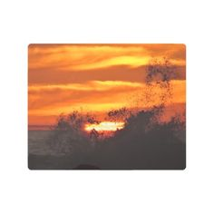Wave breaks in the sunset metal print  $94.90  by MonsieurAleon  - cyo diy customize personalize unique