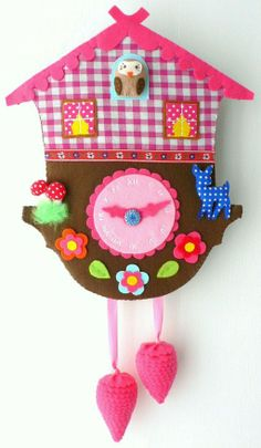 cuckoo clock felt - pattern not available. I may try this without a pattern