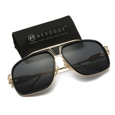 1fd8d9ce791a AEVOGUE Aviator Sunglasses For Men Goggle Alloy Frame Brand Designer AE0336  Tall Men Fashion