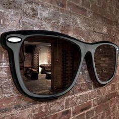 Specchio A Forma Di Occhiali Da Sole