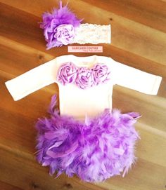 Lavender Cake Smash 1st Birthday Full Feather Couture Outfit by BabicakesCouture on Etsy!