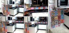 SOADESIVOS - Revestimento vinílico com estampas avulsas de azulejos.