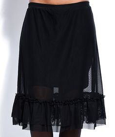 Look what I found on #zulily! Cicero Black Sheer Ruffle Skirt by Cicero #zulilyfinds