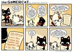 So good job Nintendo for using logic in a Mario game. Gamer Cat, Gamer Humor, Nerd Humor, Cat Comics, Funny Comics, Witty Comics, Video Games Funny, Funny Games, Funny Animal Memes