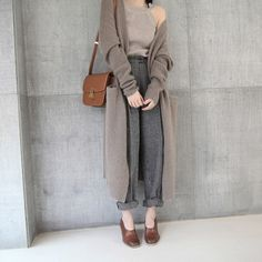 2018 Girl Casual Long Knitted Cardigan Autumn Korean Women Loose Solid Color Pocket Design Sweater Jacket. Click visit to buy #WomenCardigan