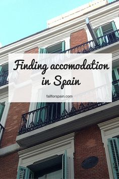 Finding accomodation in #Spain