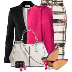 Pink Tank and Pumps, created by angkclaxton on Polyvore