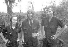 Photojournalist Catherine Leroy with men of the 26th Marine Regiment, 1967.  #VietnamWarMemories