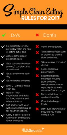 clean eating rules for 2017